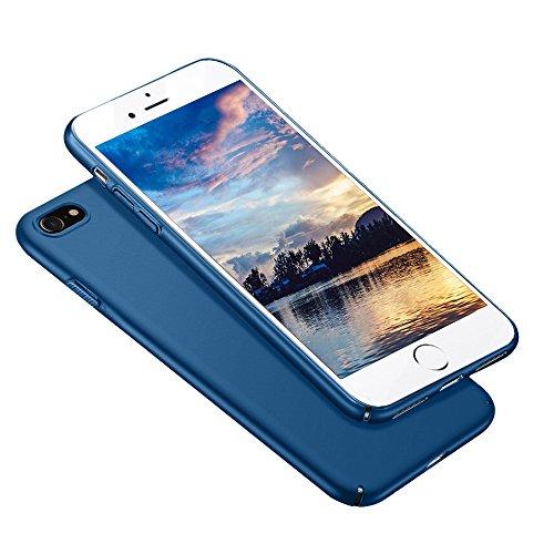 Meidom iPhone 7 Hülle iPhone 8 Hülle Matt Slim Case Ultra Dünn Hüllen,High-Quality Shock iPhone7 Hülle,All-Fingerprint Schutzhülle,Anti-Screatch für Handyhülle iPhone 7 iPhone 8 Blau (Handy Blue)