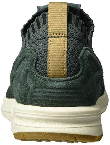 Adidas Zx Flux Primeknit, Sneaker Basses Mixte Adulte Gris (Utility Ivy/utility Ivy/gum)