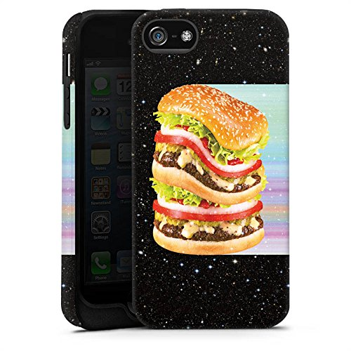 Apple iPhone X Silikon Hülle Case Schutzhülle Burger Fleisch Fast Food Tough Case matt