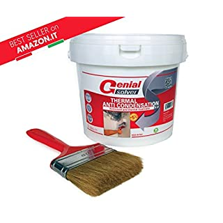Anti Mould Thermal Paint - THERMAL ANTI CONDENSATION - 2,50 L + Brush 80mm