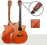 JN Taille à la guitare acoustique Guitare acoustique classique cordes en acier 40' Spruce placage guitare folk avec sac Gig, Stand Mélomane Beginner Kit cadeau d'anniversaire, 3colors (Couleur: Gris)