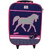 Koffer Trolley Kinderkoffer Handgepäck Kindertrolley Einhorn Pferd Mädchen 8289