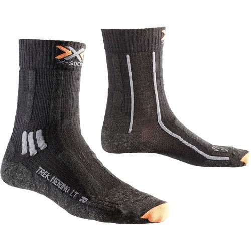 X-Socks Erwachsene Funktionssocken Trekking Merino Light Lady, Black, 39/40, X020439 (Kanal Air Socken)