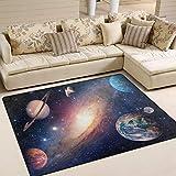 Use7 Universe Star Planet Teppich, Weltraum-Teppich, für Wohnzimmer, Schlafzimmer, Textil, Mehrfarbig, 160cm x 122cm(5.3 x 4 feet)