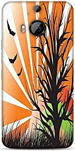 Snoogg Abstract Illustration Designer Protective Back Case Cover For HTC M9 Plus