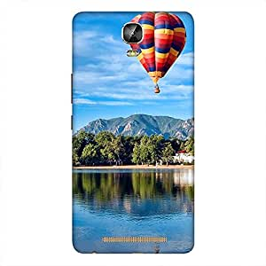 Mobo Monkey Designer Printed Back Case Cover for Gionee Marathon M5 Plus (Nature :: Scenery :: Hot Air Balloon :: Landscape :: Mountain)