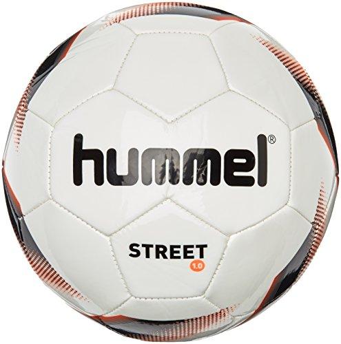 Hummel, Pallone da calcio, Bianco (White/Black/Fiery Coral), 5