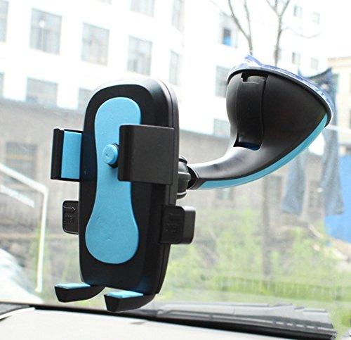 inShang 360° Supporto Auto Smartphone s Porta Cellulare Stand da Tavolo Holder, Supporti, Culla GPS con potente ventosa per Apple iPhone 7 / 7plus, 6 / 6Plus 5 / 5S / 5C / 4 / 4S, Samsung Galaxy S6 /  light blue