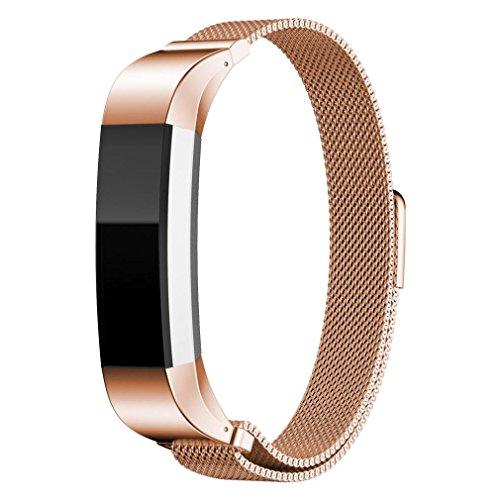 Fitbit Alta Armband, IMJONO Milanese Magnetschleife Edelstahlband Für Fitbit Alta Intelligent Armbanduhr Heißer Verkauf Geschenk (Rose Gold)