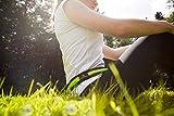 Laufgurt »RunActive« Stilvolle Gürteltasche / Bauchtasche / Lauftasche für Laufen, Wandern, Klettern, Reiten – 3x Farben / Handys bis ca. 5,5Zoll / elastisch wasserdicht & festsitzend ! Hellblau - 8