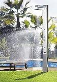 Astral Pool Solardusche Iguazu (Sehr exlusiv) Kalt-Warm 25l Warm Wasser Behälter Pooldusche Handventile Düsen Schwimmbaddusche Solar