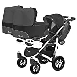 Kinderwagen für Zwillinge und älteres Kind 2 Gondeln 3 Sportsitze Trippy...