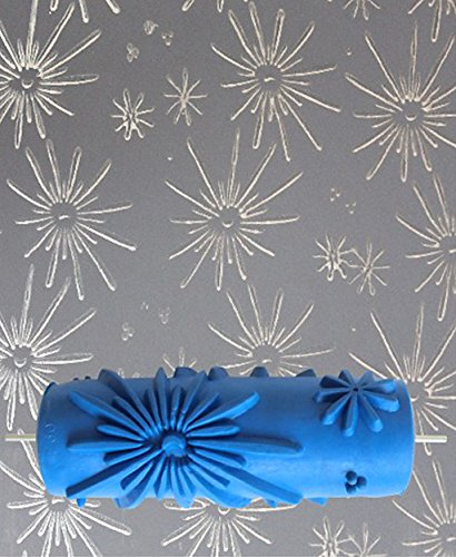 KESOTO 15cm Malerrolle Farbroller Farbwalze DIY Wand Dekoration mit Blume Muster - Stil 1 (Farbroller Für Wand-dekoration)