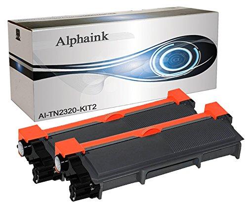 Alphaink ai-kit2-tn2320 kit 2 toner compatibili per brother hl-l2300 hl-l2500 hl-l2700 2600 pagine al 5%