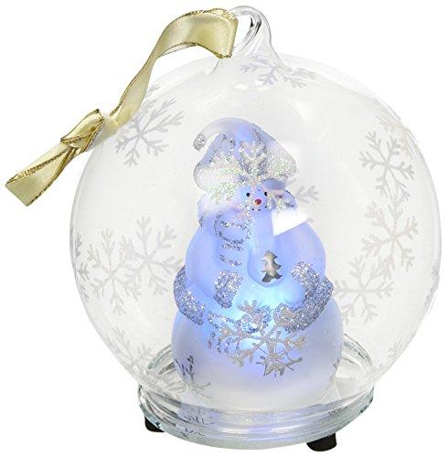 StealStreet ss-ug-hd-0372Weihnachten Licht, bis Glas Ornament Ball–Weiß Schneemann (Weihnachts-display Schneemann)