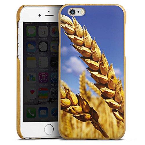 DeinDesign Apple iPhone 6 Holz Hülle Case Handyhülle Landschaft kornfeld Korn (6 Case Iphone Aus Holz-korn)