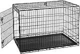 AmazonBasics - Gabbia in metallo richiudibile, per cani, Portiera Singola, 122 cm