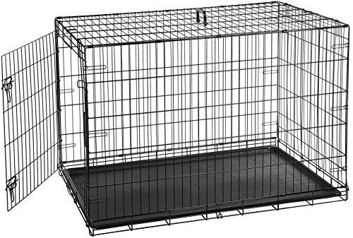 AmazonBasics Hundekäfig mit 2 Türen, Metall, zusammenklappbar
