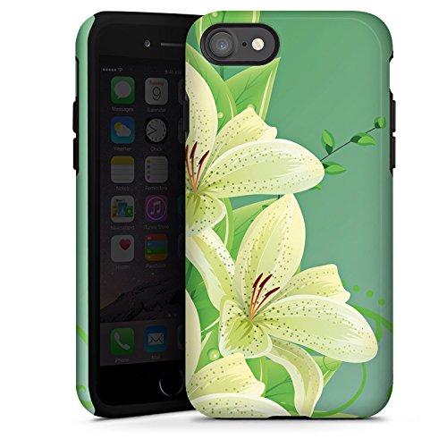 Apple iPhone X Silikon Hülle Case Schutzhülle Lilie Blume Lilly Tough Case glänzend