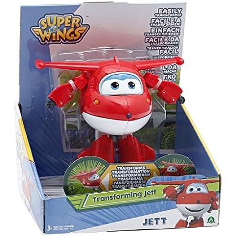Giochi Preziosi - Super Wings Jett, Personaggio Trasformabile Articolato, Alto 12 cm