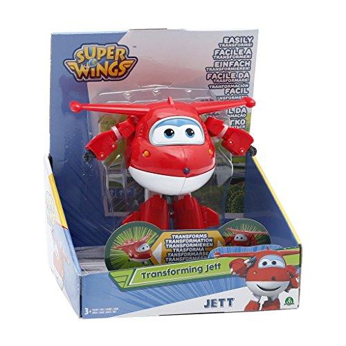 Giochi Preziosi Super Wings Jett Robot Aeroplanino, Personaggio Trasformabile, Rosso