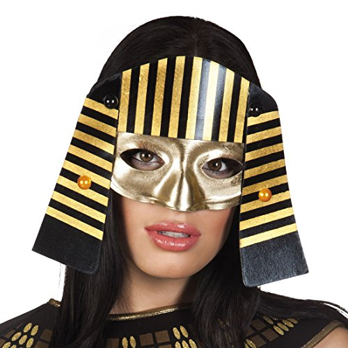 Halloweenia - Kostümzubehör Maske Pharao Lady , Mehrfarbig (Erwachsene Steampunk Lady Kostüme)