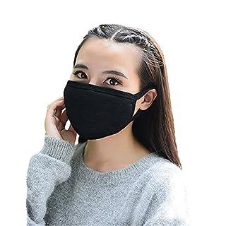 3 Stück Unisex Baumwolle Maske Mund Anti Staub Mundschutz Mundmaske mit Elastikband