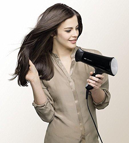Braun Satin Hair 5 HD-550 - Secador de pelo con alisador y cepillo, 2000W, color negro