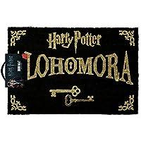 """Import Harry Potter - Zerbino con formula magica """"Alohomora"""", colore: nero e oro"""