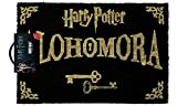 "Import Harry Potter - Zerbino con formula magica ""Alohomora"", colore: nero e oro"