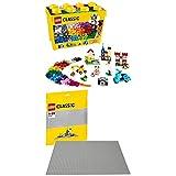 Lego Classic 10698 - Große Bausteine-Box, Bausteine + Graue Bauplatte, Lernspielzeug