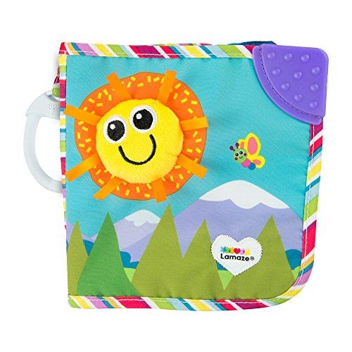 Lamaze Baby Spielzeug Freunde Buch Clip & Go - hochwertiges Kleinkindspielzeug - Baby Buch Anhänger zur Stärkung der Eltern-Kind-Beziehung - Softbuch ab 0 Monate