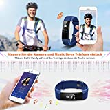 Mpow Fitness Armband mit Pulsmesser,Wasserdicht IP67 Smartwatch Fitness Uhr Pulsuhren Fitness Tracker Aktivitätstracker Schrittzähler Uhr für Damen Herren Anruf SMS Beachten für iPhone Android Handy - 6