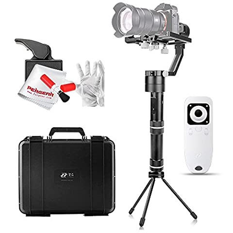 Zhiyun Crane 3 Axis Brushless Handheld Gimbal Stabilizer with Wireless Remote Control, Mini Tripod and Other Useful Accessories for Sony A7 series/Panasonic LUMIX Series/Nikon J Series/Canon M Series