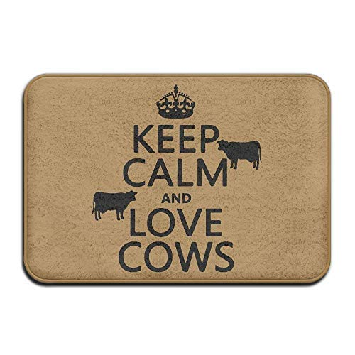 Keep Calm and Love Cows Non-Slip Outside/Inside Door