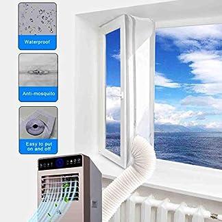 51czULBEFtL. SS324  - JOYOOO para aparatos de aire acondicionado portátiles Cubierta de ventana AirLock, Pantalla para evitar la entrada de aire caliente accesorio de sistema de aire acondicionado
