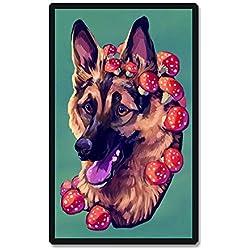 bismarckber Süßes Hundehaus See, Diamantmalerei, komplettes Bohrer-Set, DIY Strasssteine, Stickerei, Kreuzstich Kunst, Q1422, Einheitsgröße