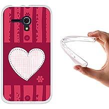 Funda Alcatel One Touch Pop D5, WoowCase [ Alcatel One Touch Pop D5 ] Funda Silicona Gel Flexible Corazón Love, Carcasa Case TPU Silicona