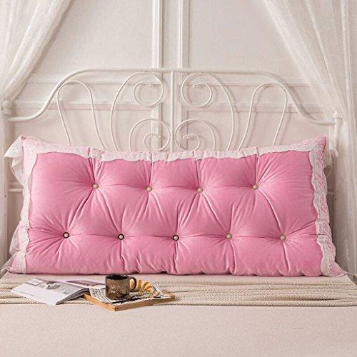 Pillow.Z Love Die Rückenlehne des Bettes; Super Weichem Kristall Wildleder + Stickerei Spitze; Gefüllt mit Perlenbaumwolle; Kissen Zum Anlehnen. Kissen Am Bett (Farbe : 2#, Größe : 150 * 75cm) (Keil Schönheit)