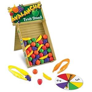 Learning Resources- Juego para desarrollar Habilidades motoras Finas y Aprender los Colores Avalanche Fruit Stand (LER5070)