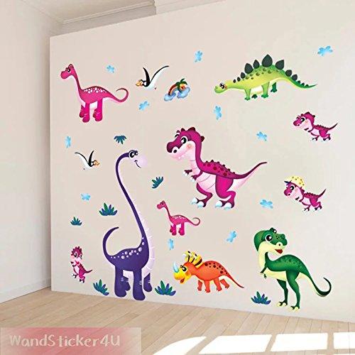 parete-sticker4u-adesivo-da-parete-divertente-dinos-parati-effetto-immagine-130-x-100-cm-31-pezzi-se