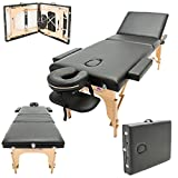 Best Portable Massage Tables - Massage Imperial® Deluxe Lightweight Black 3-Section Portable Massage Review