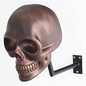 H-SKULL Support pour casque tête de mort. (ANTIK COPPER)
