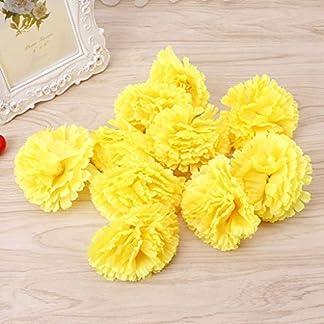 SimpleLife Flores Artificiales, Falso Flores de Tela de Plástico Artificial Flor de Clavel Falso 10 Cabezas Nupcial Ramo de la Boda para el Hogar Jardín Decoración de La Boda