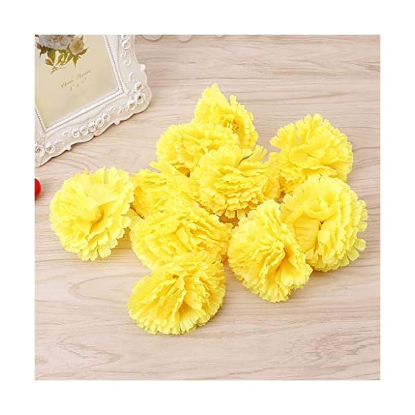 SimpleLife Flores Artificiales, Falso Flores de Tela de Plástico Artificial Flor de Clavel Falso 10 Cabezas Nupcial Ramo…