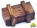 Knifflige Trick-Geschenkbox (kreatives Geldgeschenk für Hochzeit, Geburtstag, Vatertag, Muttertag, Jahrestag, Weihnachten & Partys) - ECHT-HOLZ | Originelle Geschenkidee & Verpackung als Schatztruhe, Zauber-, Rätsel- & Trickkiste