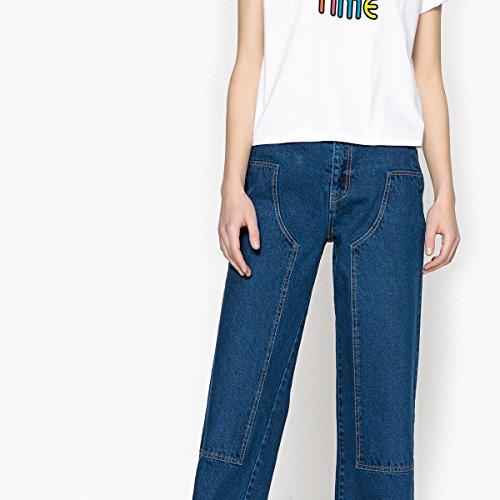 La Redoute Collections Donna Pantaloni Straight Blu Oltremare