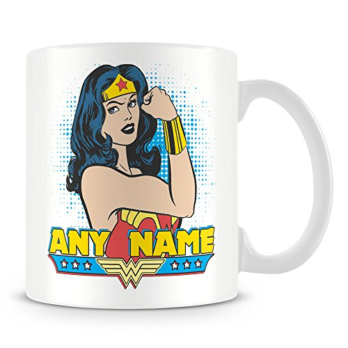 Personalised Wonder Woman Mug - Add Any Name