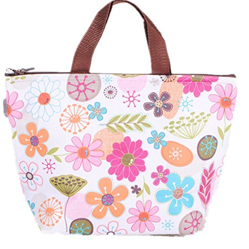 Waterproof Picnic Lunch Bag Tote Insulated Cooler Travel Organizer by (Ice Cooler Bag)