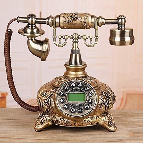 Ldlzjdh Festnetz Telefon- Europäisches handgemachtes Harz-Kabel-Telefon, Wohnzimmer Schlafzimmer Retro-Festnetz-Freisprecheinrichtung + Anrufer-ID-Telefon Festnetz